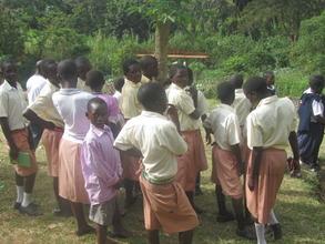 School group, Ngamba field trip