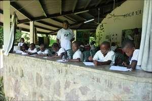 Conservation education at Lola ya Bonobo