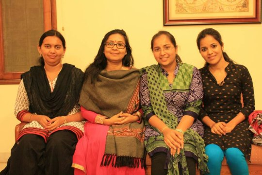 Chandana and our scholarship girls!