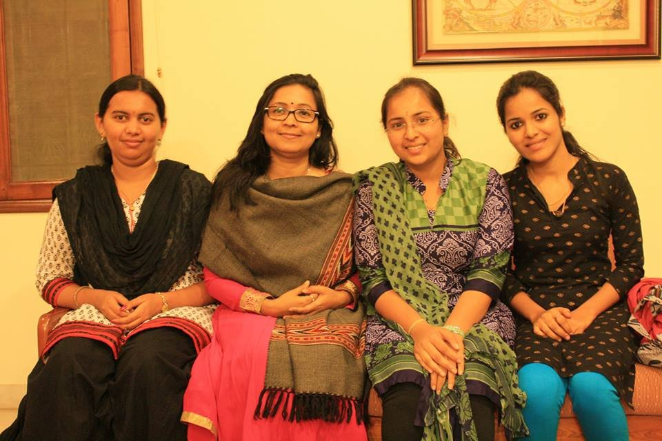 g4g Board Director with Nele scholarship girls