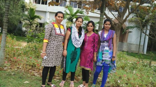 Sindhu & team getting ready to teach!