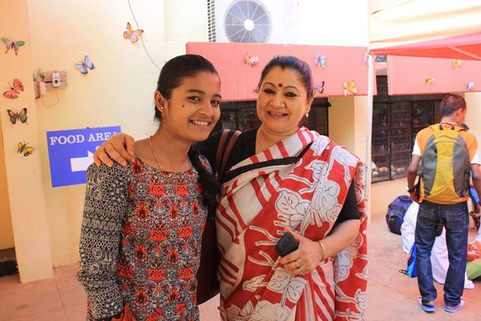 One of our scholarship girls & founder of Parikrma