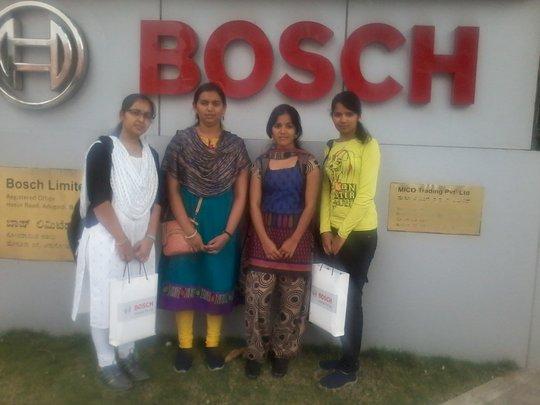 The girls after their BOSCH visit