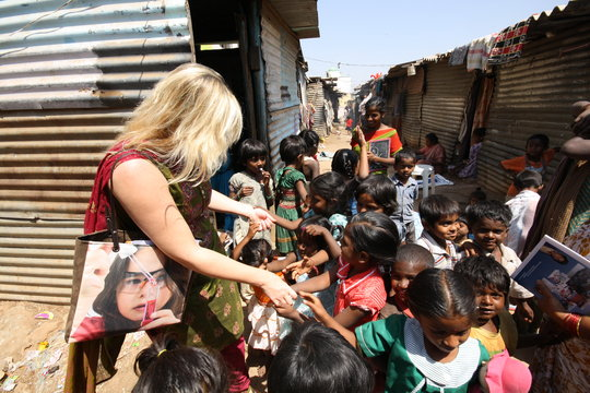Meeting the children in the Bangalore slums