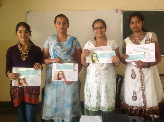 Girls from Nele receive their first certificates