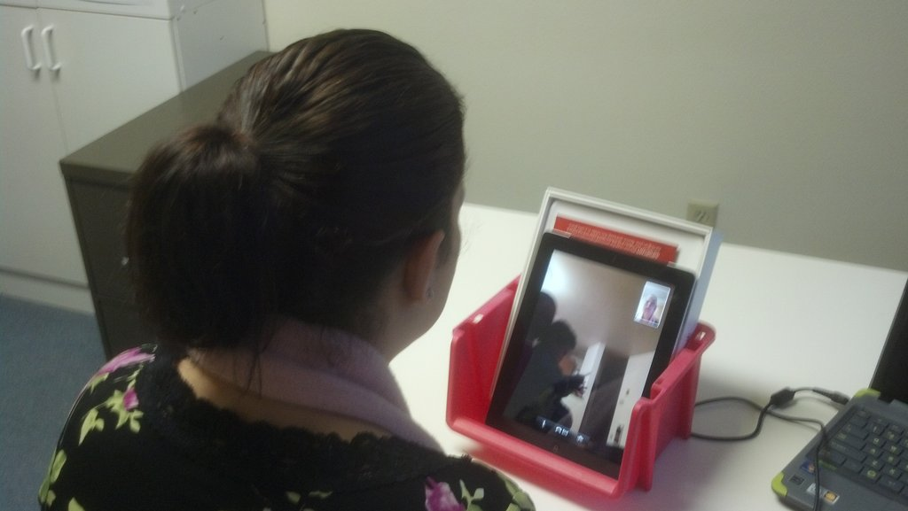 Provider engaged in a Virtual Home Visit
