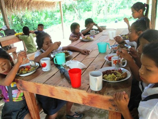 Kids eat healthy lunches in Grow & Cook project