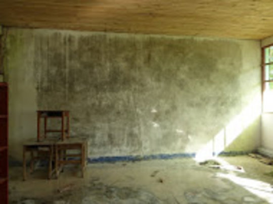 The wall before............