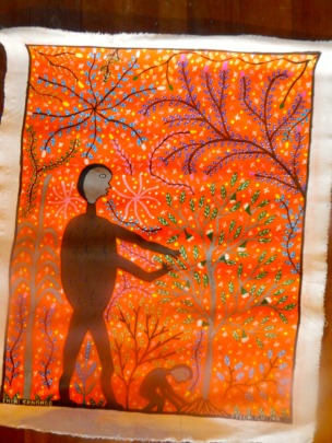 Painting of the spirit of the plant Chiricsanango