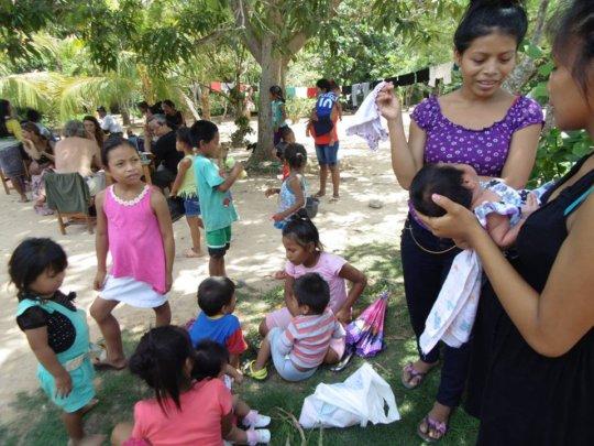 Mothers and children at Santa Clara