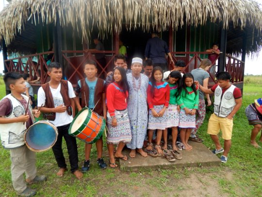 Young people in support of their culture