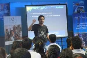 Shrikant Kekare addressing participants in Mumbai