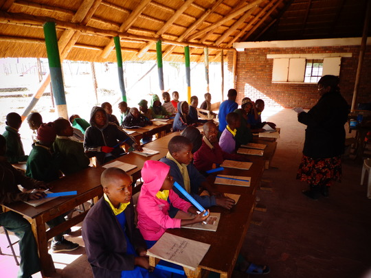Out of school children in class