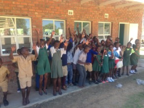 Children happy and ready to go back to school!