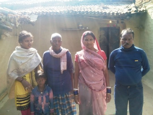 Chando With Her Family after surgery