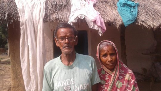Bahadur with his wife after getting his vision