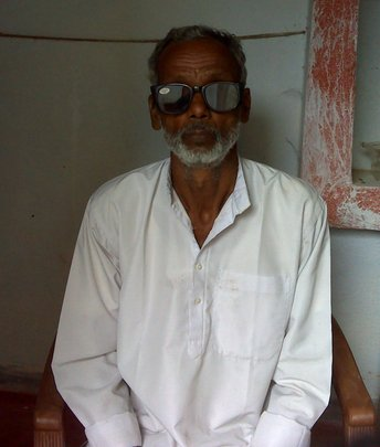 Manan in his home after treatment