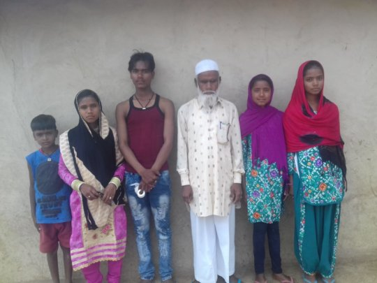 Habib with his Grand Children