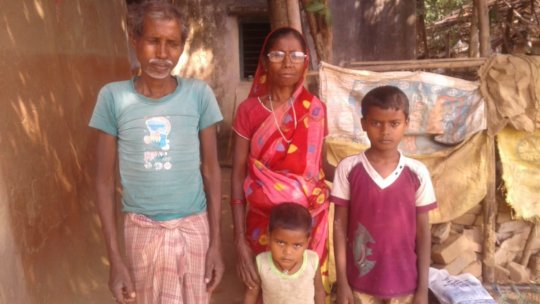 Putul with her husband and grand children