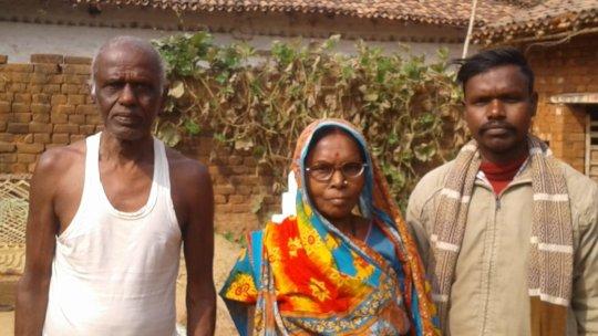 Geniya with her husband and son