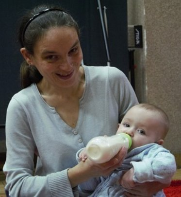Tania and baby Sophia