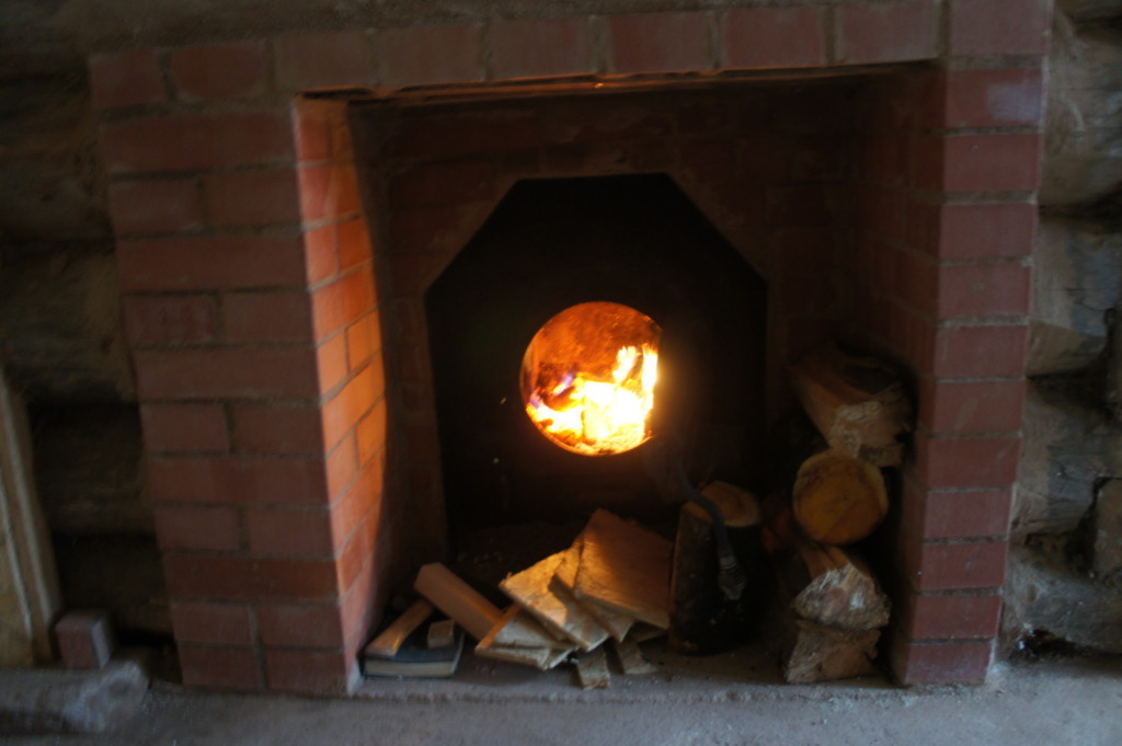 New, safe stove for our bath-house