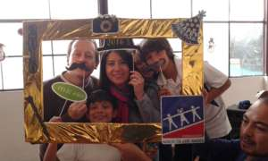 Loving volunteers celebrating  New year