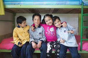 Children in the Nuevo Amanecer home