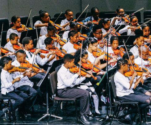 An orchestra performs! Credit: Daniel Pagan