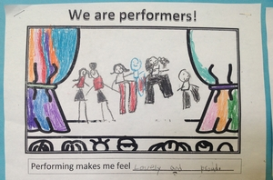A student describes the joy of performing.