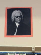 Mr. Coolbach watching over the music room