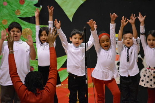 Partner school students shine on stage!