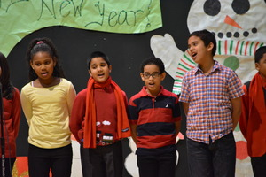 Students sing for their friends and family!