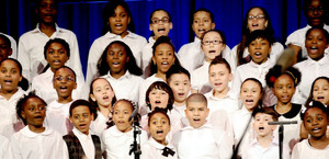 Students rejoice as they sing confidently!
