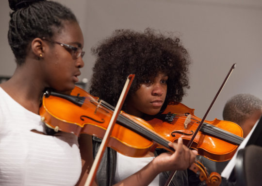 Violinists play with heart and soul!