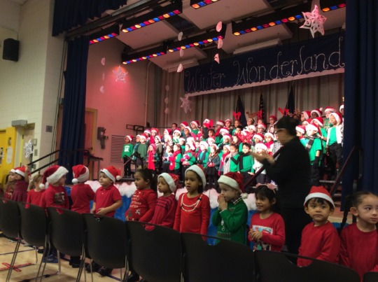 Young students sing at a holiday concert!
