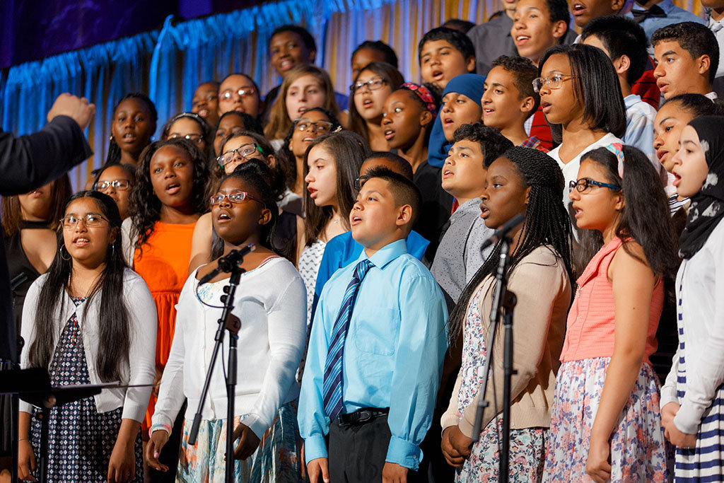 Choir students sing with joy!