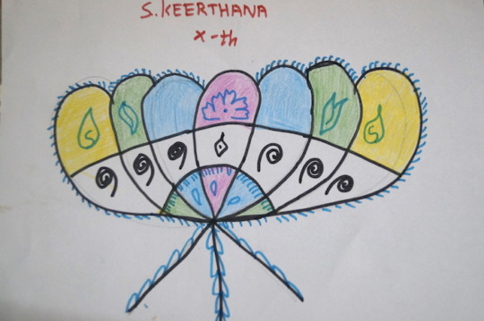 Keerthana's Drawing amidst Challenges