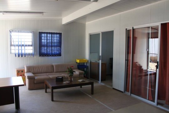 The client waiting area