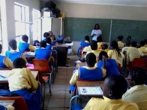 LvA's first school workshop in Diepsloot
