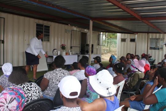 Conducting a workshop on GBV