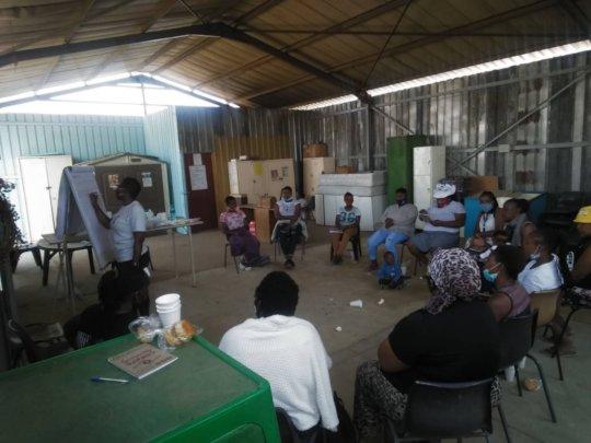 Participants in workshop