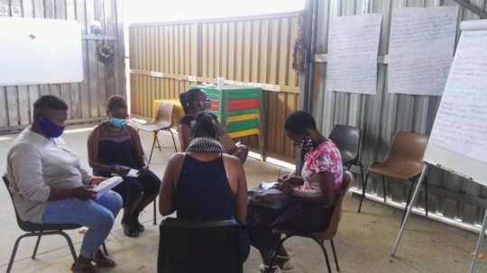 Participants break out in small groups