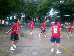 One of our students in the volleyball competition