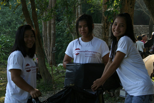 On rubbish duty at the 25th anniversary event