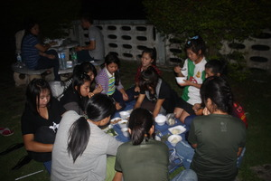 Youth camp at Kong river
