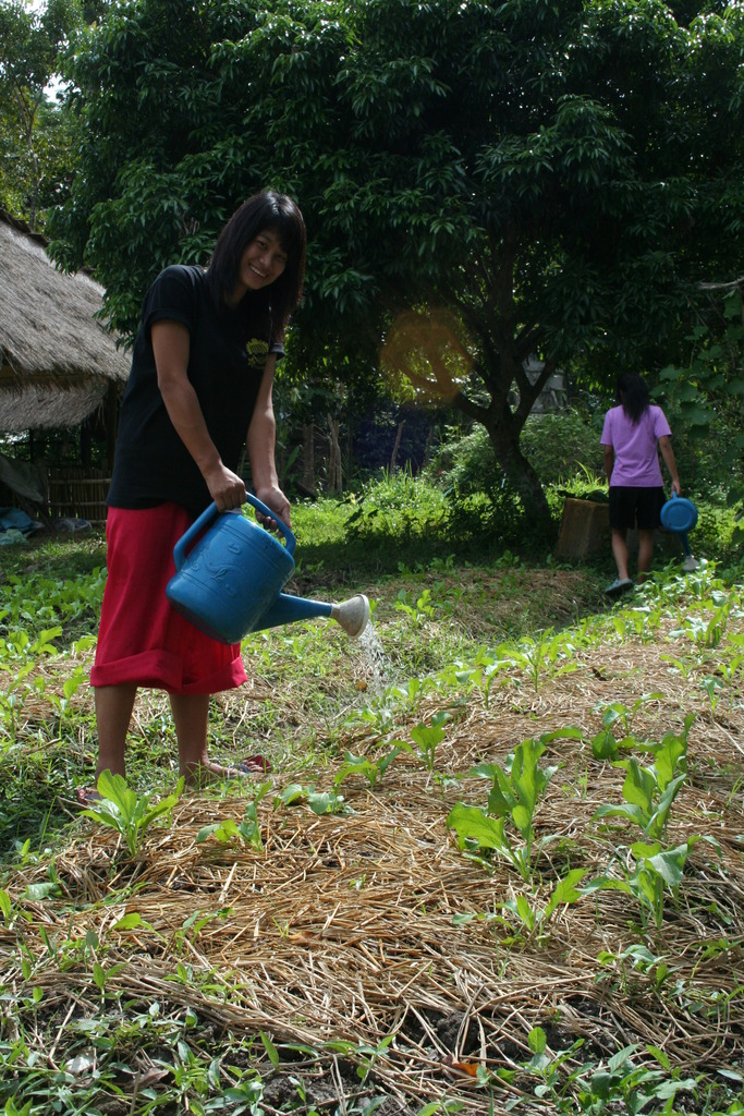 Nam on watering duty