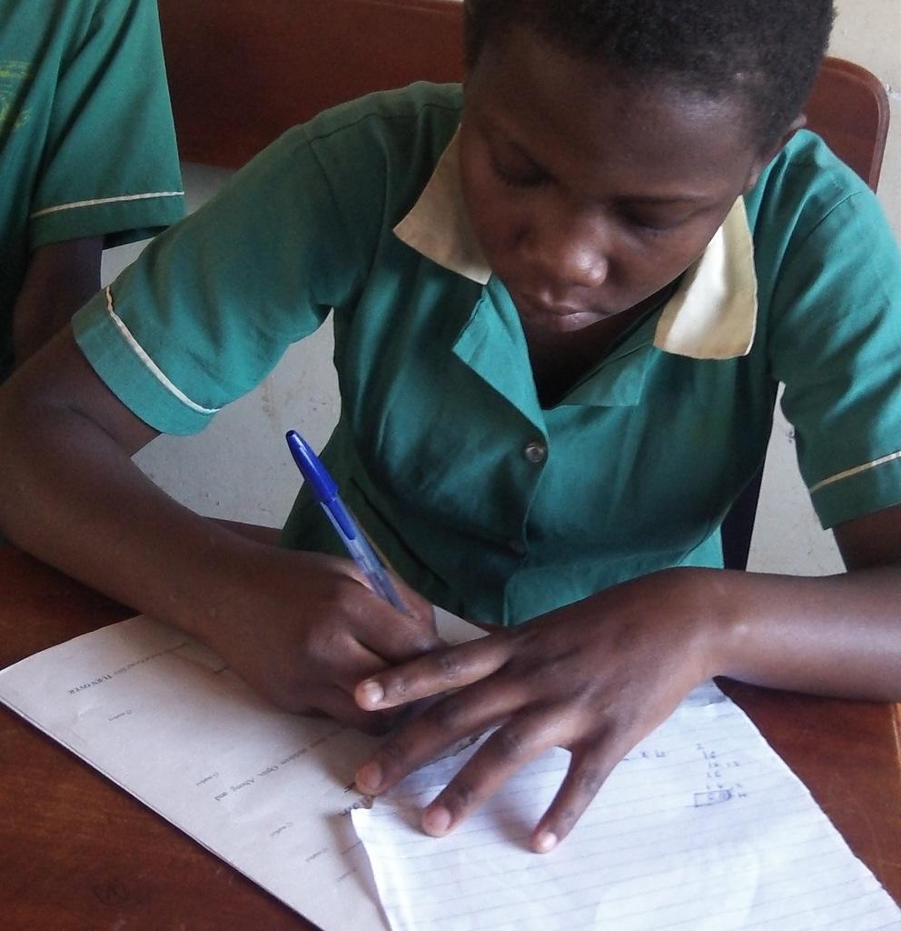 Working hard at exams
