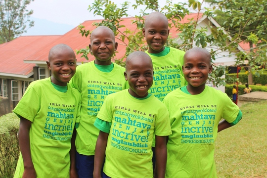 Donated girls mentoring t-shirts proved popular