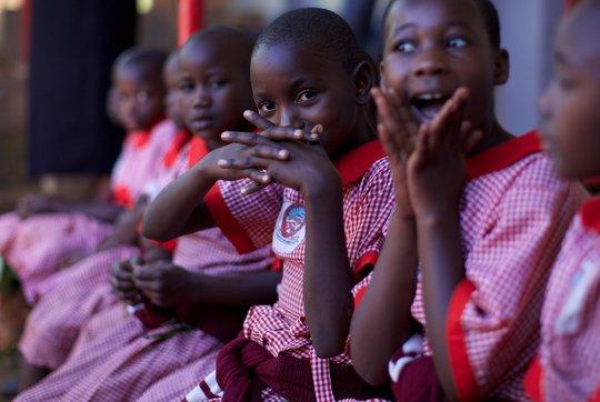 Schoolgirls at our Uganda school